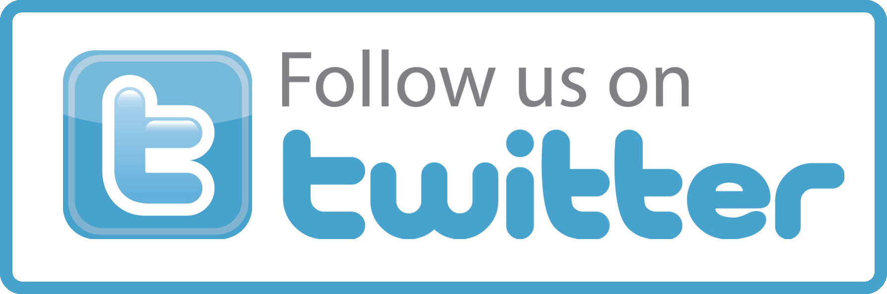 Follow us on Twitter-button