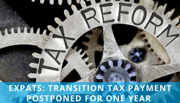 MSDM LinkedIn post - transition tax delayed