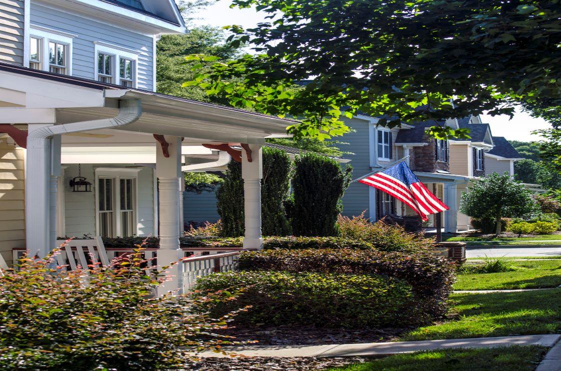 House with flag-rsz