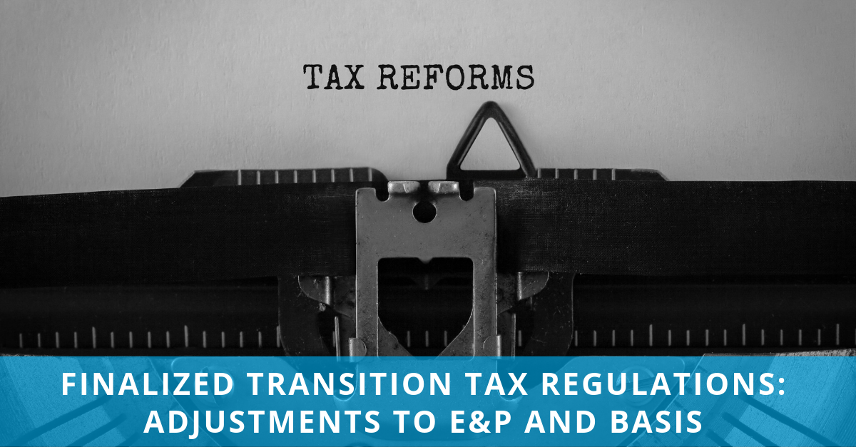 MSDM LinkedIn post - Transition Tax E&P