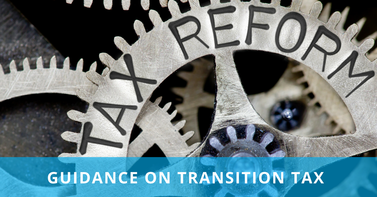 MSDM LinkedIn post - Transition Tax Guidance