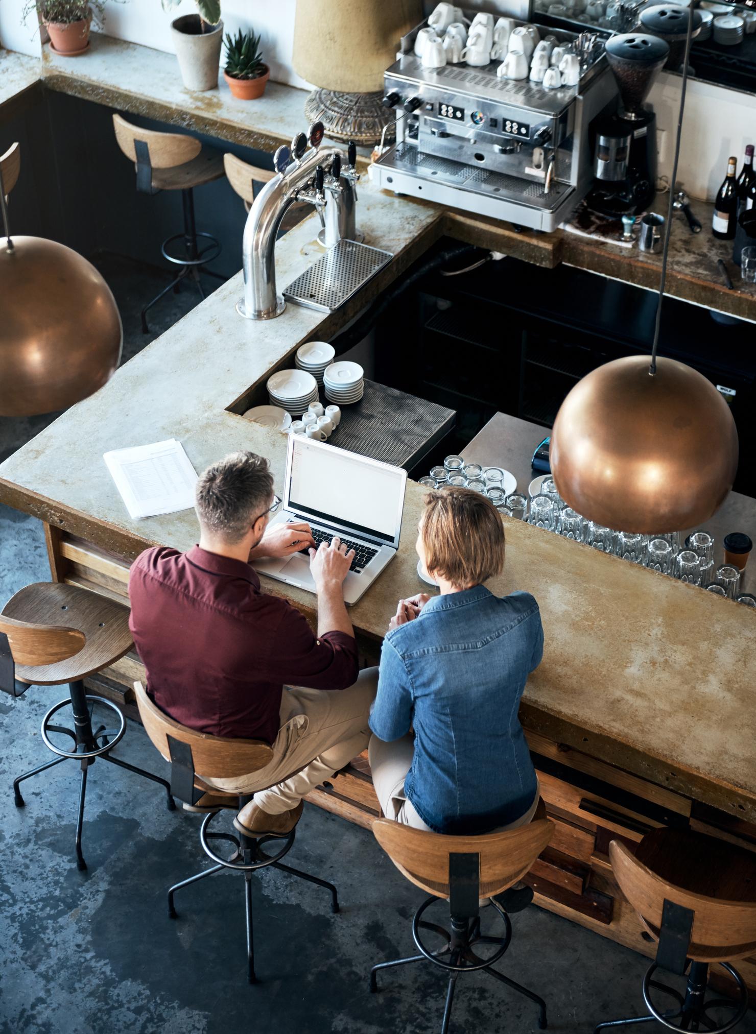 Meeting in restaurant