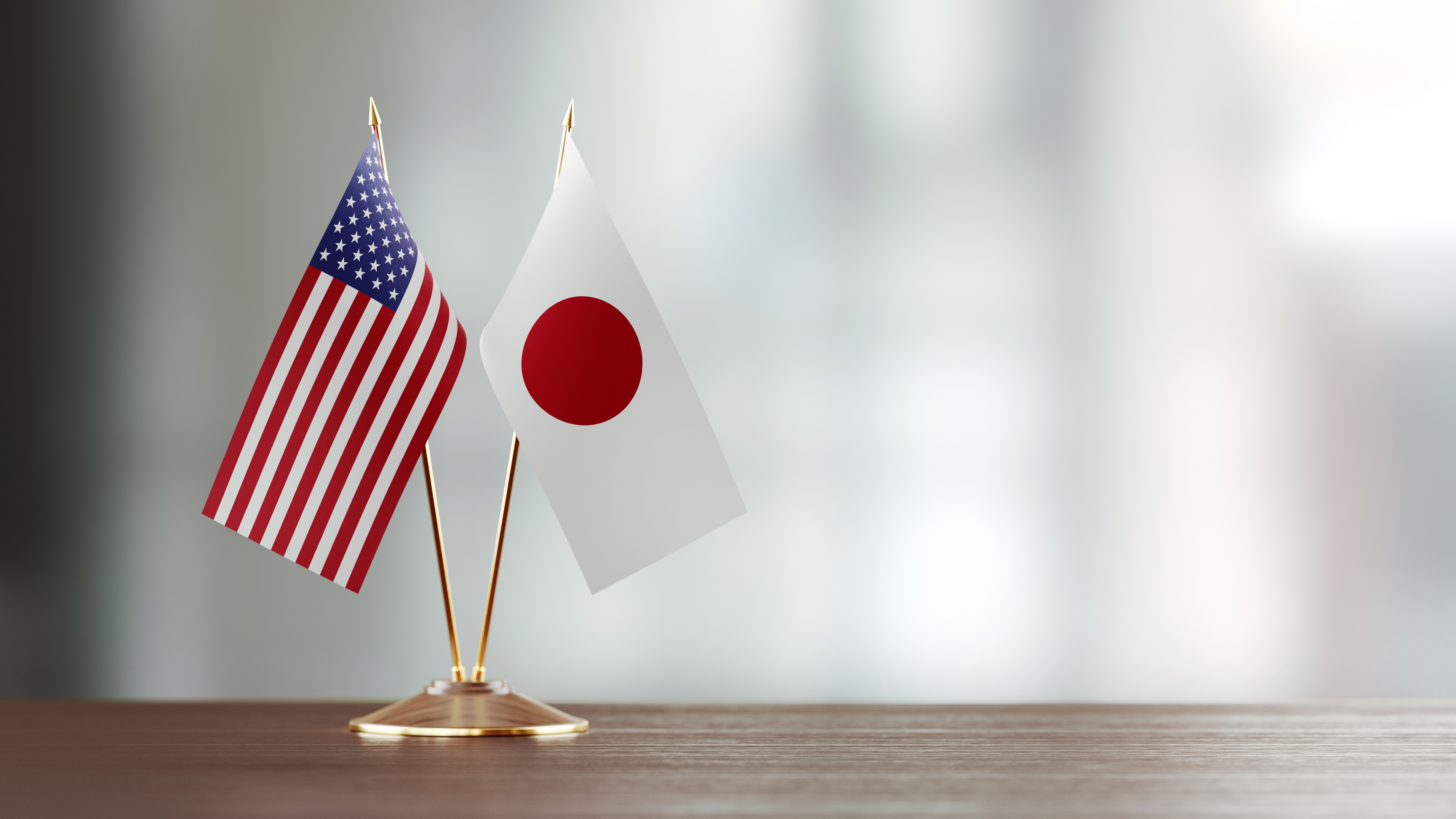 US-Japan flags